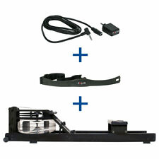 WaterRower Rudergerät Shadow inkl. S4 Monitor, Herzfrequenzempfänger & Brustgurt