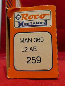 VINTAGE HO GAUGE Roco Minitanks #259 MAN360 L2 AE