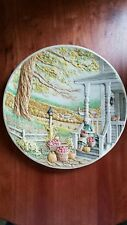 Grandma's Farmhouse Vintage Ceramic Handmade Decorative Relief Plate