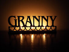 Tea light holder 'Granny' perfect for Birthday, Mother's Day, granny gift, MDF