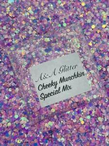 Nail Art Glitter (Cheeky Munchkin) Chunky Cosmetic Glitter 5g Bag