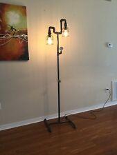 Pipe Floor Lamp,, 2 Bulb Vintage Street,  Industrial, Steampunk