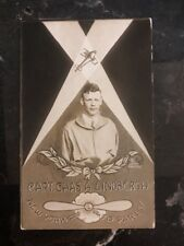 1928 Canal Zone Panama RPPC Postcard Cover Capt Chas Lindbergh NY Paris