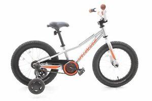 """USED Specialized RipRock 16"""" Coaster Brake Kid's Bike Silver/Moto Orange"""