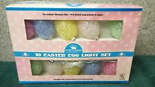 Light Set with 10 Easter Eggs by Kurt S. Adler made in early 2000's from China