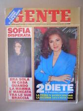 GENTE n°21 1991 Sofia Loren Sabatini Gabriella Edwige Fenech Redford  [M30]