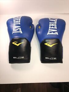 Everlast Pro Style Elite Workout Training Boxing Gloves Size XL~16 Ounces~Blue