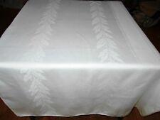 292x70 Vintage Antique White IRISH LINEN DOUBLE DAMASK Tablecloth