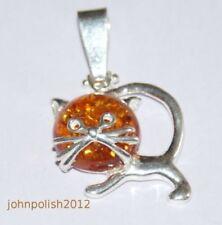 Collares y colgantes de joyería con gemas naturales ámbar de plata de ley