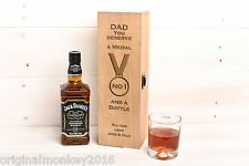 Fathers Day Gift. Whiskey Gift Box, Number 1 Dad Gift. Gift For Dad
