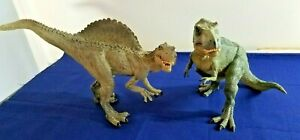 Papo T-REX Dinosaur 2005 & Spinosaurus 2007 - Action Figures - Both w/Moving Jaw
