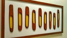 Mid-century modern wall art - Handcarved wood wall sculpture - 1960s design