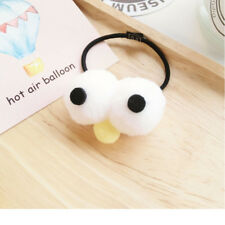Plastic Elastic Hair Tie Band Rope Ring Ponytail Holder Nylon Yellow cute icon.1