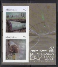 MALAYSIA 2011 UNDERGROUND ENGINEERING EXCELLENCE SHEET OF 2 STAMPS IN MINT MNH