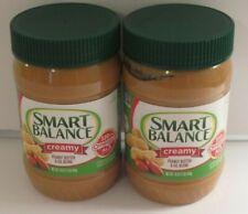 (2) Smart Balance Creamy Peanut Butter net wt 16 oz each 03/2021