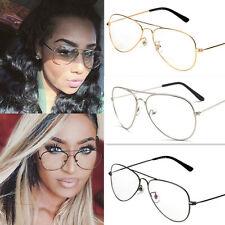 Classic Retro Clear Lens Vintage Men Women Big Round Sunglasses Glasses Eyewear
