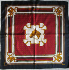 -  Foulard CELINE  soie  TBEG  vintage scarf  85 x 86 cm