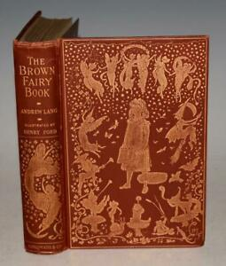 Andrew Lang Brown Fairy Book Longmans 1904 First ed BRIGHT Lapland India SCARCE