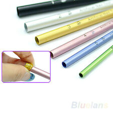 6Pcs French Acrylic Nail Art Tips Shaping C Curve Metal Rod Sticks Manicure Tool