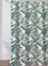 Envogue  ~ Fabric Shower Curtain ~ Breezy Tropical Palm Fronds & Banana Leave