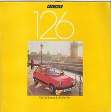 FIAT 126 SALOON & DE VILLE ORIGINAL 1979 FACTORY UK SALES BROCHURE