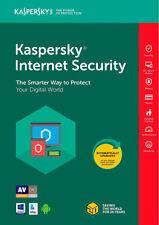 Kaspersky Internet Security 2018 I 3 Devices I 1-Year I Product Key Card