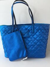 Marc by Marc Jacobs 'Metropolitote 48' Quilted Straw/Leather Tote,SHINY NAVY,NWT