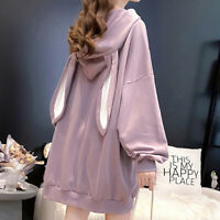Fashion Women Long Sleeve Hooded Pullover Lovely Hoodies Rabbit Ears Sweatshirt