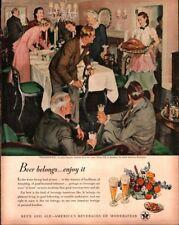 1948 US Beer Brewers #23 in Series 'Thanksgiving' Vintage Print Ad 1091
