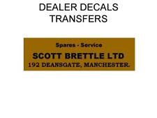 Scott brettle Ltd Calcomanía Adhesivo de transferencia de distribuidor de Motocicleta DQ53 BSA Norton Ajs