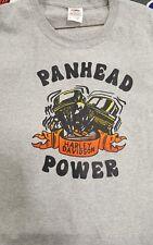 1970's Harley Davidson Motorcycle Bike T Shirt Panhead Grey L