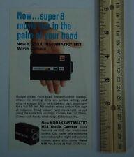 Kodak Instamatic M12 M14 Movie Camera M50 Projector Super 8 1967 Advertising