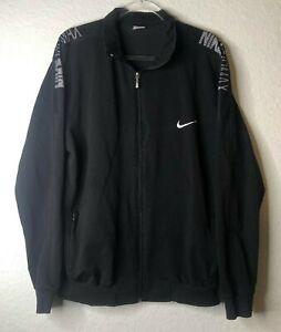 Nike Air Max Black Track Jacket Full Zip Casual Streetwear Mens 3XL EUC
