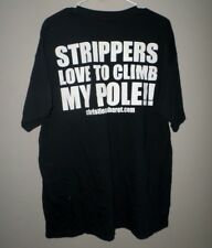 "CHRISTIE'S CABARET Cleveland tee XL strippers ""Climb My Pole"" T shirt Ohio"