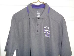 Colorado Rockies MLB Medium Poly Pullover Golf Shirt by Nike - Fantastic! New!