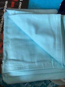 Vintage Retro Flannelette Sheet Turquoise Delamare