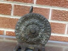 Rare Vintage CAST IRON HORSE RETRACTING  HITCHING STRAP     CH BEILE CHICAGO,IL