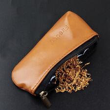 Portable Miniature Durable Zipper Cigarette Smoking Pipe Tobacco Pouch Case Bag