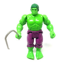 """Vintage 1980's Marvel Superheroes  5"""" HULK figure in great condition + accessory"""
