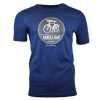 TOMMY BAHAMA Men's T-shirt - HANDLEBAR - Red Wine Bike Summer Blue Tee Small NEW