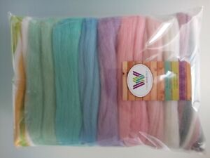 Baby Pastel* Pure Merino Wool for Needle and Wet Felting packs of 30, 60 or 90 g