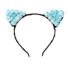 Fancy Dress Costume Black Flower Cat Ears Headband Festival Halloween Devil