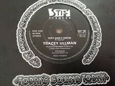 """TRACEY ULLMAN * THEY DON'T KNOW * 7"""" SINGLE EXCELLENT ( STIFF BUY 180 ) 1983"""