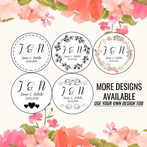 PERSONALISED WEDDING FAVOUR STICKERS THANK YOU LABELS FLORAL