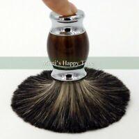 Luxury 100% Pure Black Badger Hair Wet Shaving Brush Best Men Shave Gift Barber