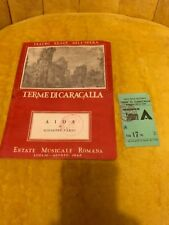 Teatro Reale Dell Opera Terme DiCaracalla Estate Musicale Romana W/Ticket 1945