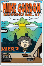 Mike Gordon Poster, Original Lupos Concert 11x17 Handbill - Phish