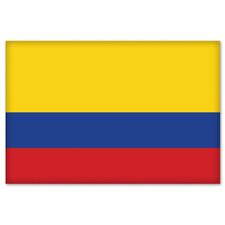 "Colombia Colombian Flag car bumper sticker 5"" x 4"""