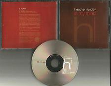HEATHER HEADLEY In My Mind w/RARE RADIO EDIT PROMO DJ CD single w/ MP3 Track