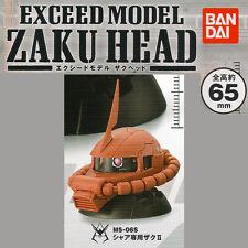 Gundam Exceed Model ZAKU HEAD Gashapon - MS-06S Zaku II (Char Aznable Custom)